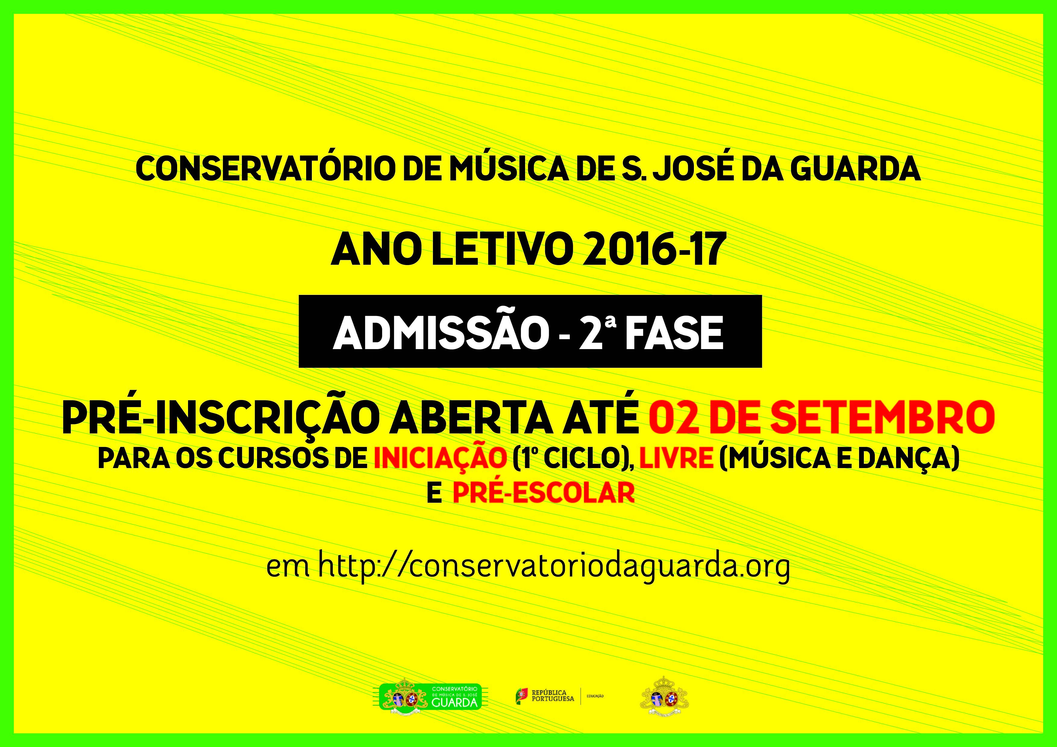 Admiss o ao conservat rio 2 fase conservat rio de for Conservatorio de musica